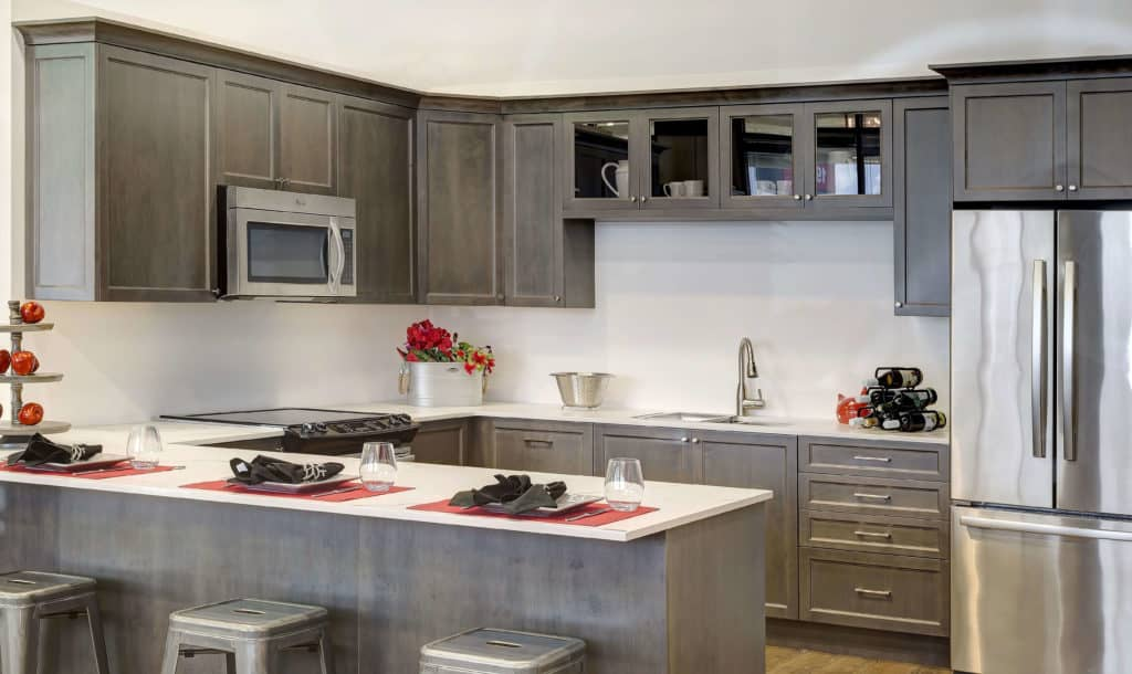 ... Kitchen Cabinets MKDC Langley · Manhattan Flat Maple Basalt ...